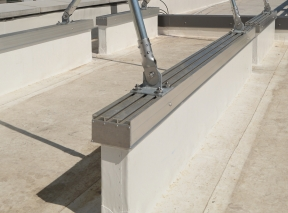Patented DryCap sleeper cap for commercial roof equipment supports