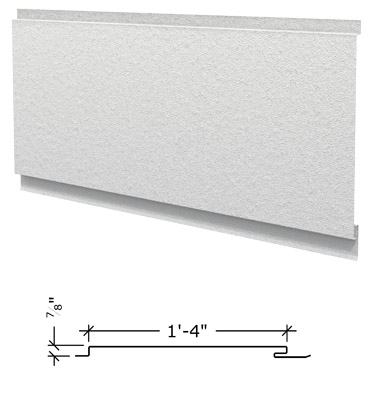 Image of flush textured panel for rooftop equipment enclosures.