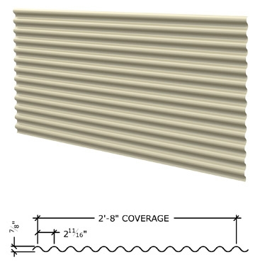Image of corrugated panel for screen walls.