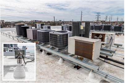 Commercial Roof Equipment Supports Roofscreen Mfg