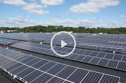 Time-lapse video of 1.2 MW solar installation