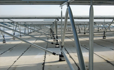 PV racking capable of holding heavy wind and snow loads.