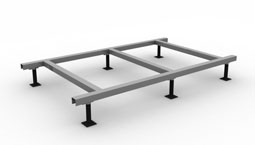 DryStand roof platform system for mounting equipment to a commercial roof.