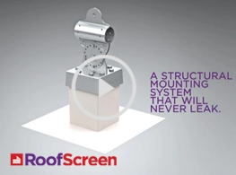 Image of roof screen square base support attachment system.